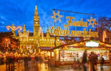 Kerstmarkt in Wenen, Oostenrijk