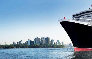 De Queen Mary 2 in New York