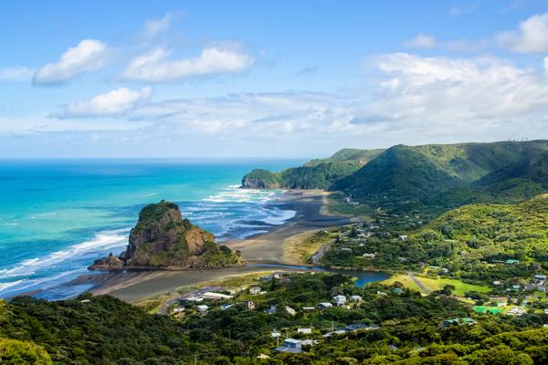 De zee en natuur van Nieuw-Zeeland