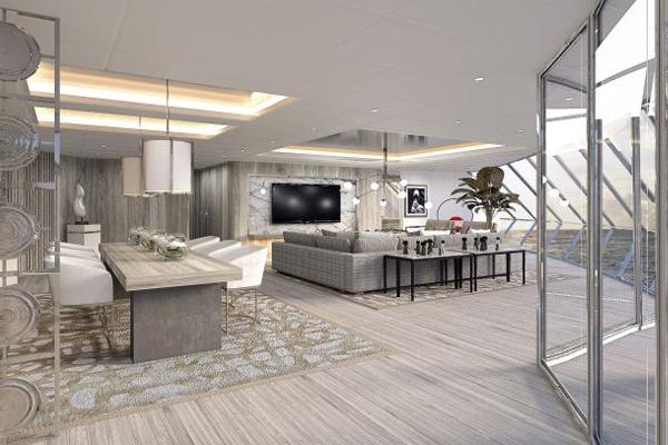 Iconic suite aan boord van de Celebrity Edge