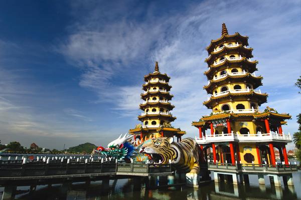Oosterse gebouwen in Taiwan