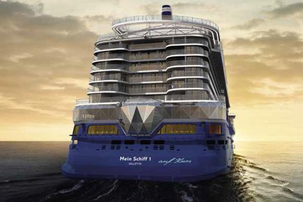 De nieuwe Mein Schiff 1 van TUI